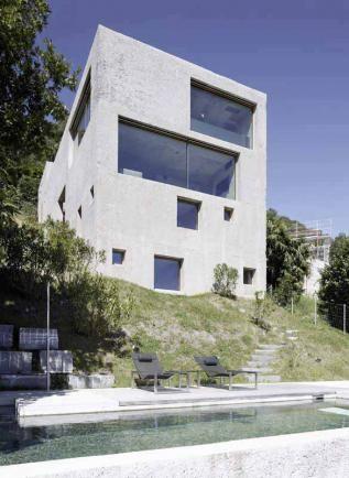 Neubau Haus Ri In Brissago Ti 2013 Wespi De Meuron Beton Architektur Innenarchitekt
