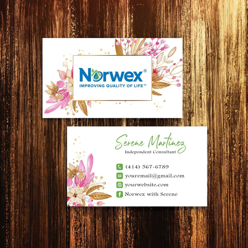 Cinnamon Flower Norwex Business Cards Personalized Norwex Template Nw06 Cleaning Business Cards Norwex Arbonne Business Cards