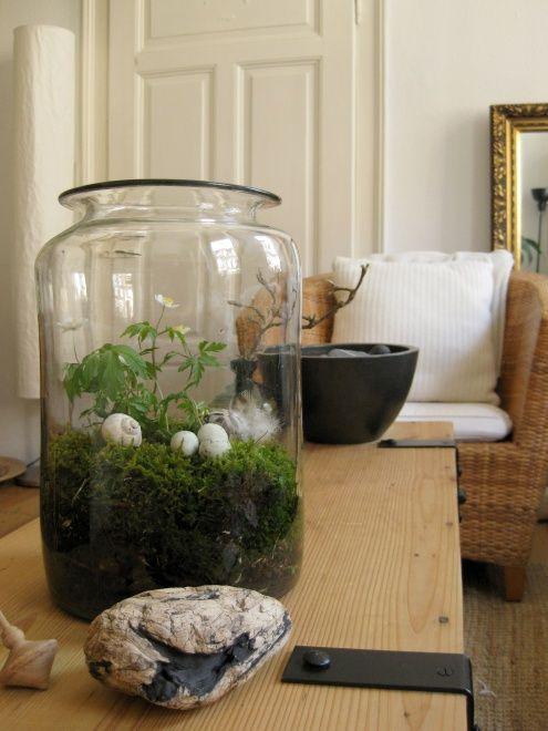 ostern im glas pflanz ideen moos dekoration fr hling ostern und ostern deko. Black Bedroom Furniture Sets. Home Design Ideas