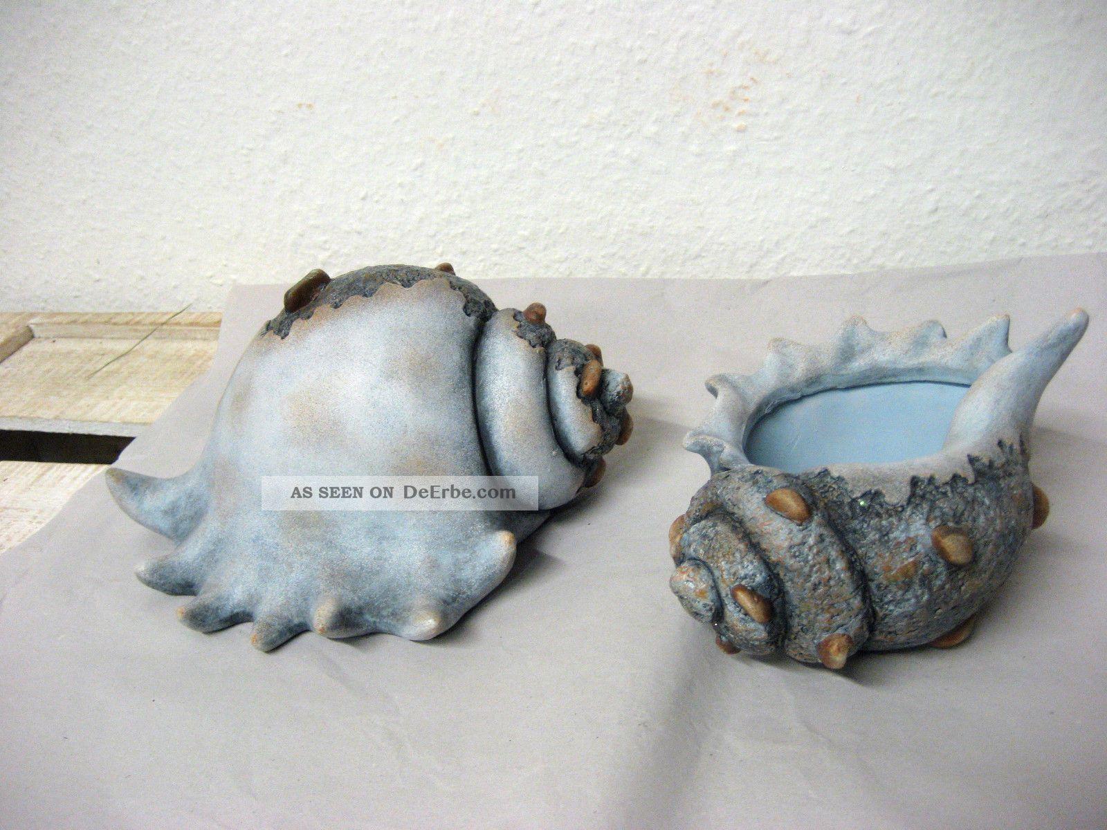 Angebot Dekoration 2 Keramik Muschel Maritim Martime Bad Deko Aquarium Muscheln Muscheln Kunst Aus Treibholz Maritim