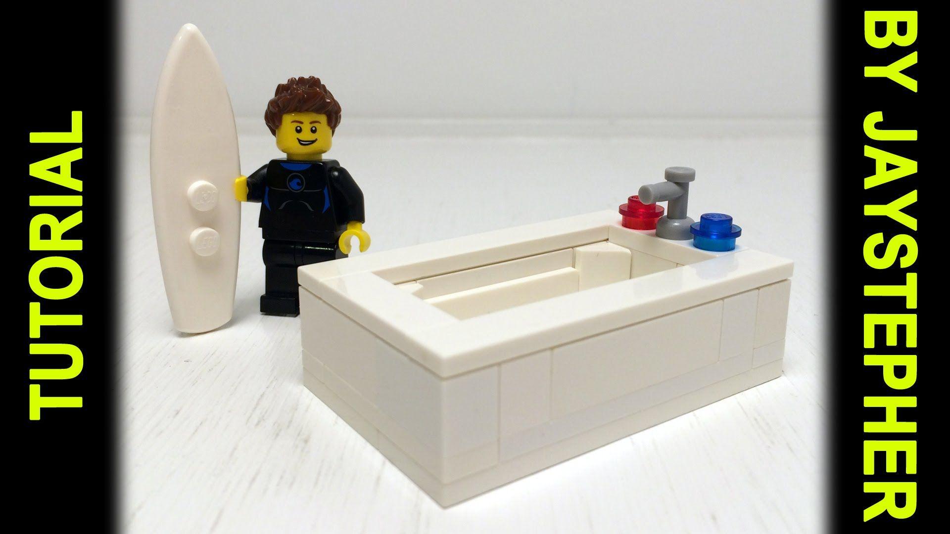 Tutorial - Large Lego Bathtub | Legos | Pinterest | Lego, Legos and ...