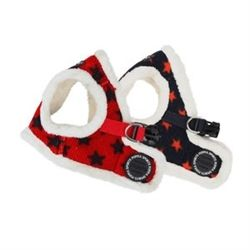 Winter dog harness with stars. Very patriotic!