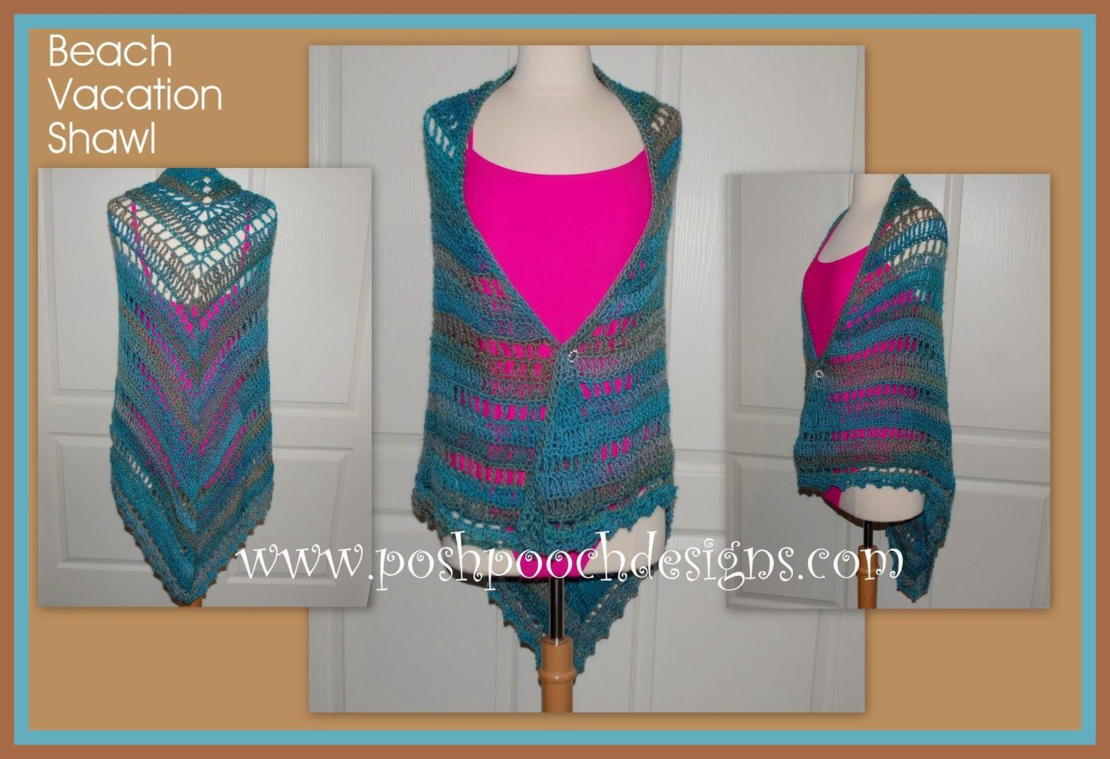 Posh Pooch Designs Dog Clothes: Beach Vacation Shawl Free Crochet Pattern | Posh Pooch Designs