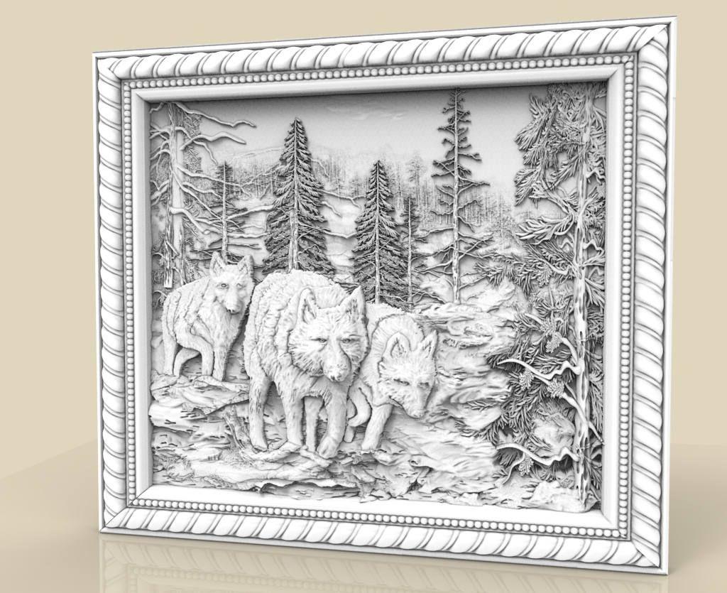 Router Engraver Carving Machine Relief Artcam 3d STL Model CNC 195 Elephants