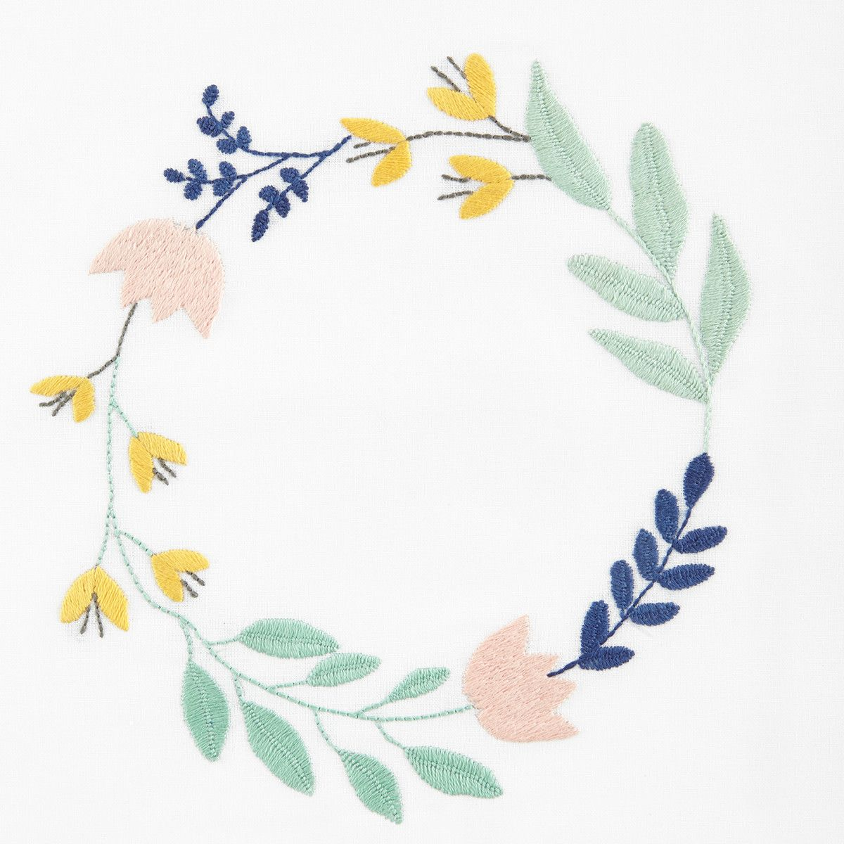 The floral wreath embroidery pattern embroidery pinterest