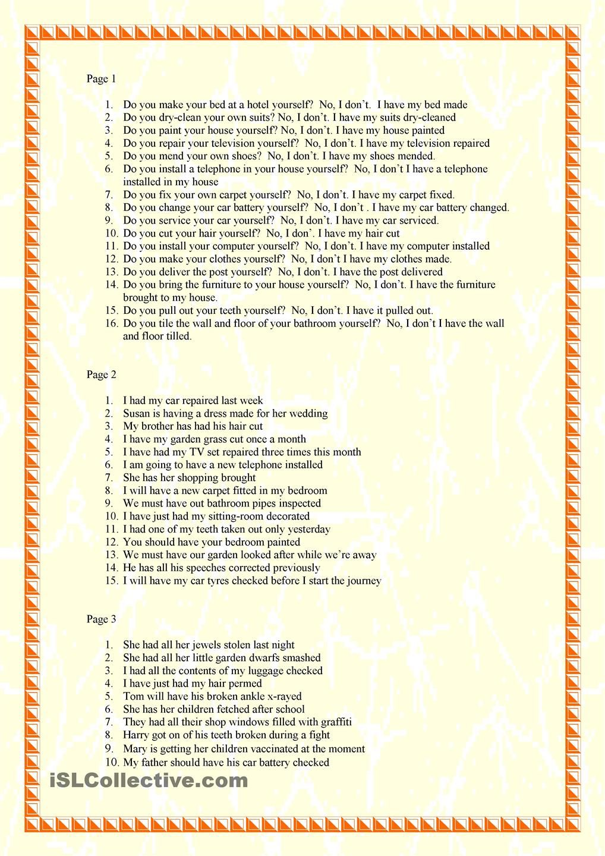 Causative Passive English Phrases English Grammar Worksheets Teaching Jobs [ 1440 x 1018 Pixel ]