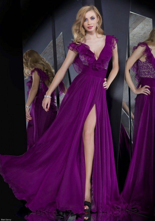 Alternativas de vestidos de moda largos | ALTA COSTURA PURPLE AND ...