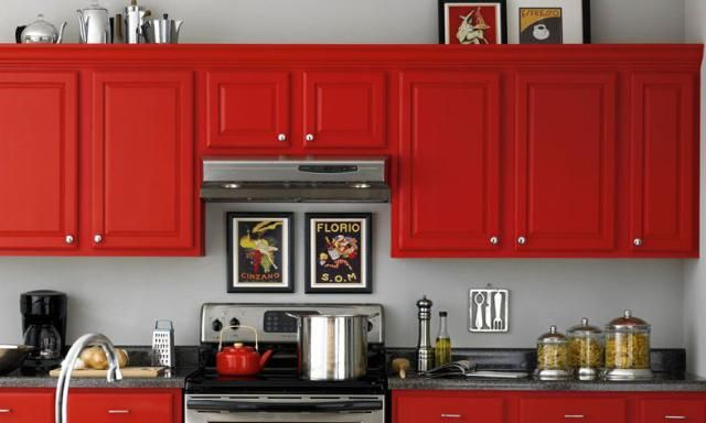 See top kitchen paint colors you can copy for your own kitchen from brands  like Valspar, Sherwin Williams, Martha Stewart, and more.