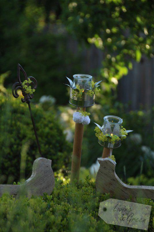 Cadle light garden kerzenst nder aus dosen deko pinterest garten basteln und deko - Gartenparty beleuchtung ...