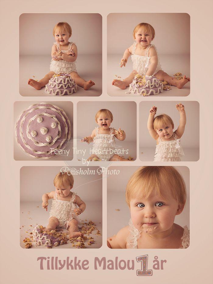 Cake Smash, smash the cake, kage billeder, baby 1 år, 1 års fotografering, fejring af første fødselsdag