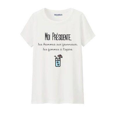 T-shirt Femme Moi Présidente