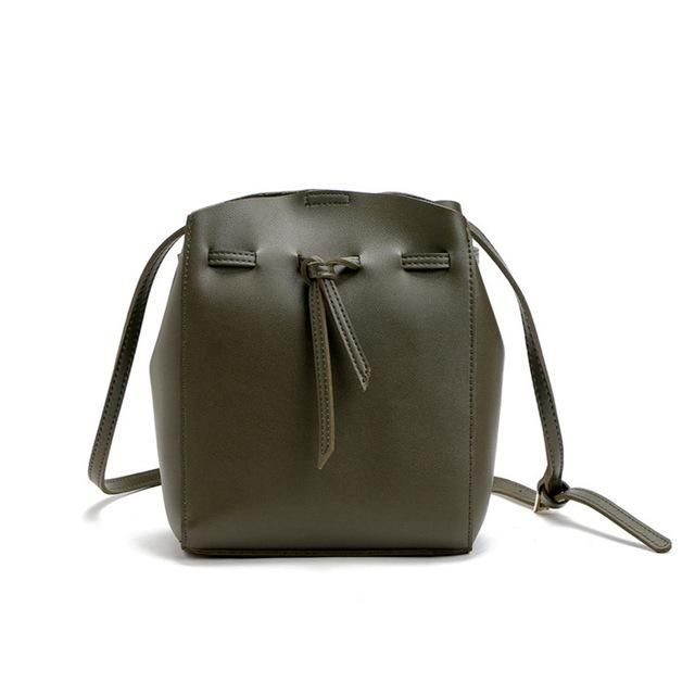 0e8bfce737 Women Messenger Crossbody Tassel String Faux-Leather Bag with Bucket Design