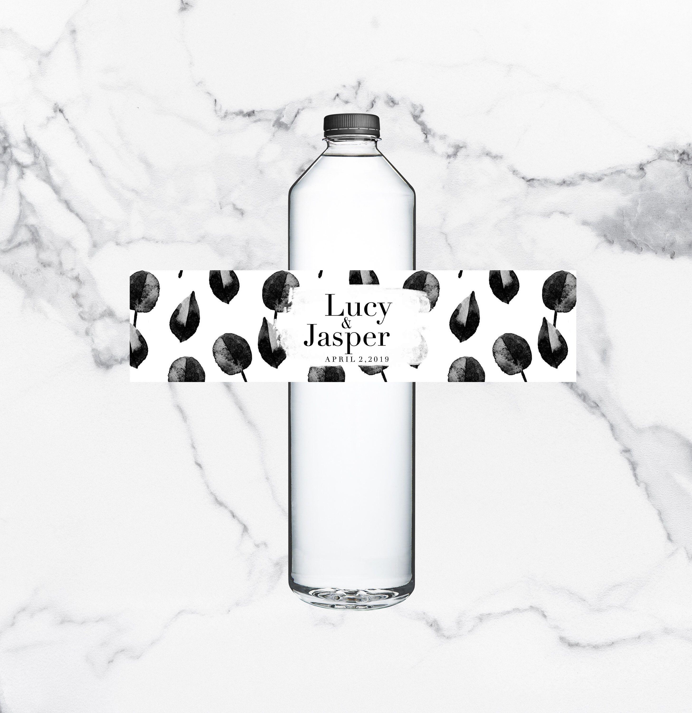 Editable water bottle label printable wine bottle