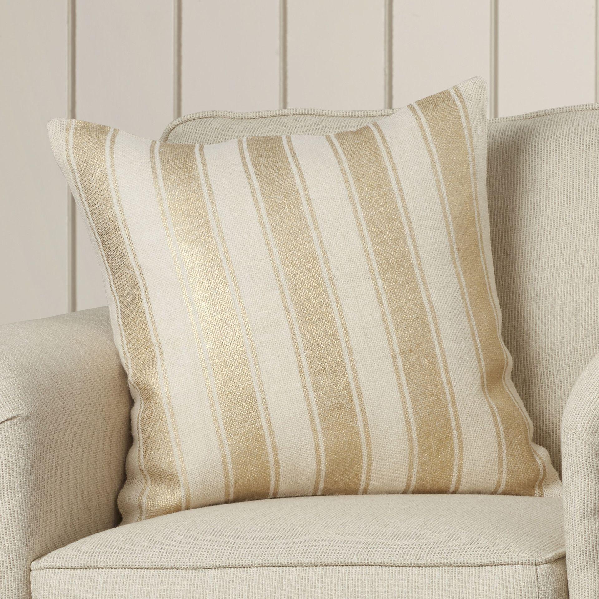 Striped foil cotton throw pillow products pinterest cotton