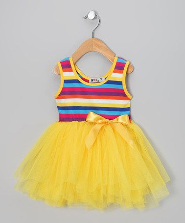 Take a look at this Mini Runway Yellow Stripe Tutu Dress - Infant & Toddler by Mini Runway on #zulily today!