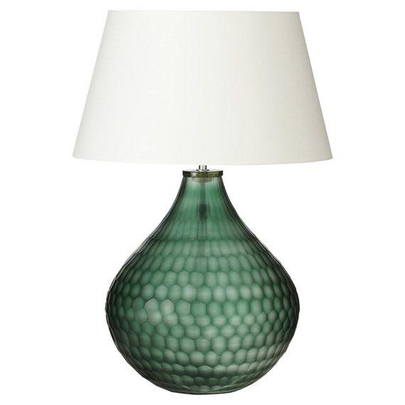 Chateau dor glass table lamp emerald