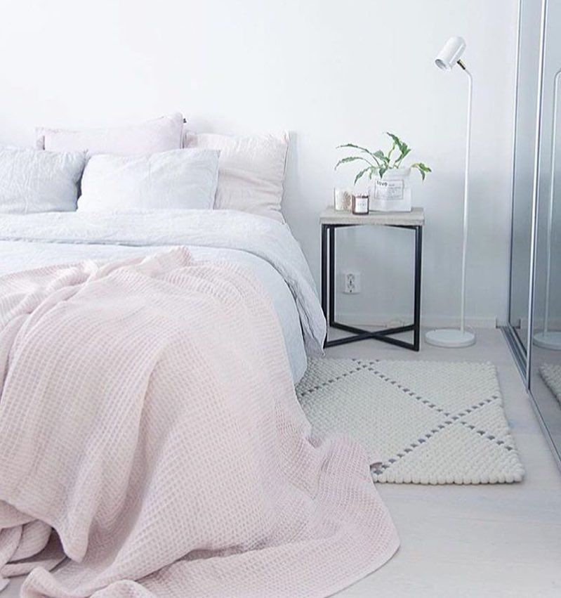 pleasurable grey and purple bedroom. i really need an aesthetically pleasing room but share a with my  bright