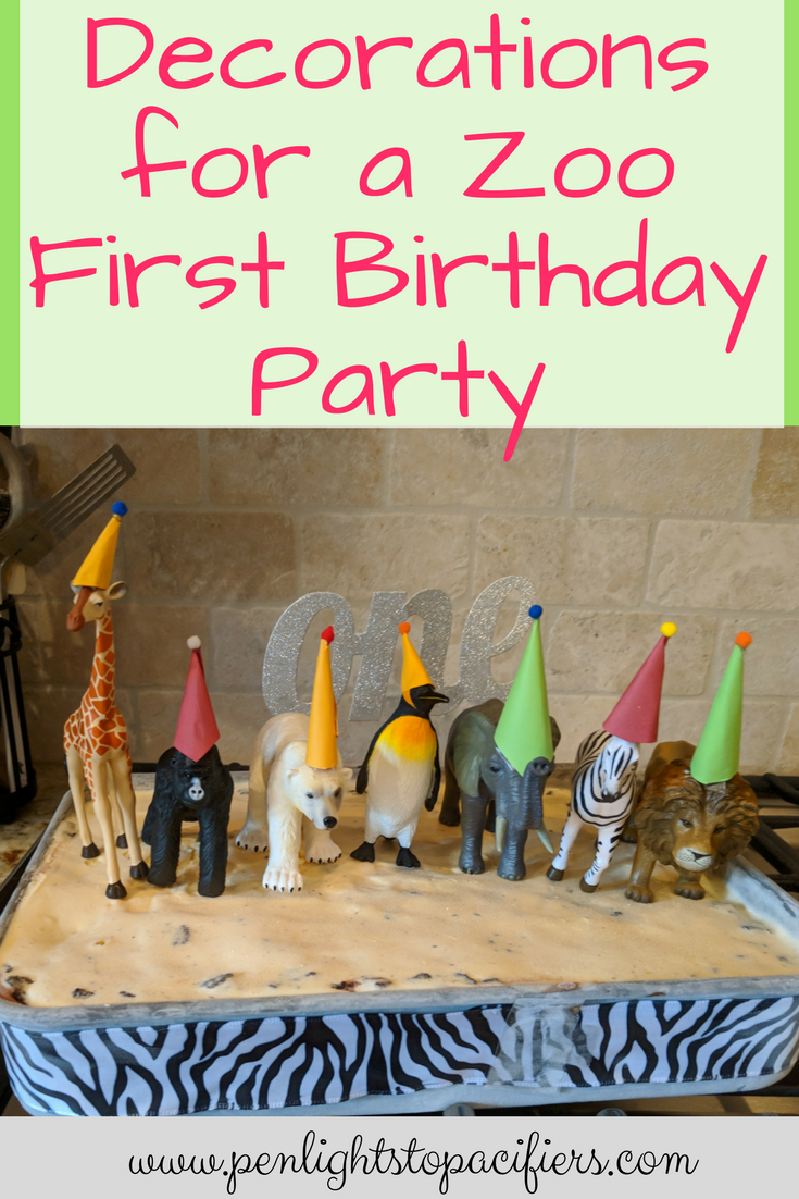 The Best Decorations For A Zoo Themed First Birthday Party Diy Animal Decoration Ideas Banners