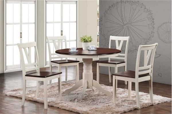 Espresso Dining Table Amp 4 Chairs Bargaintown Furniture