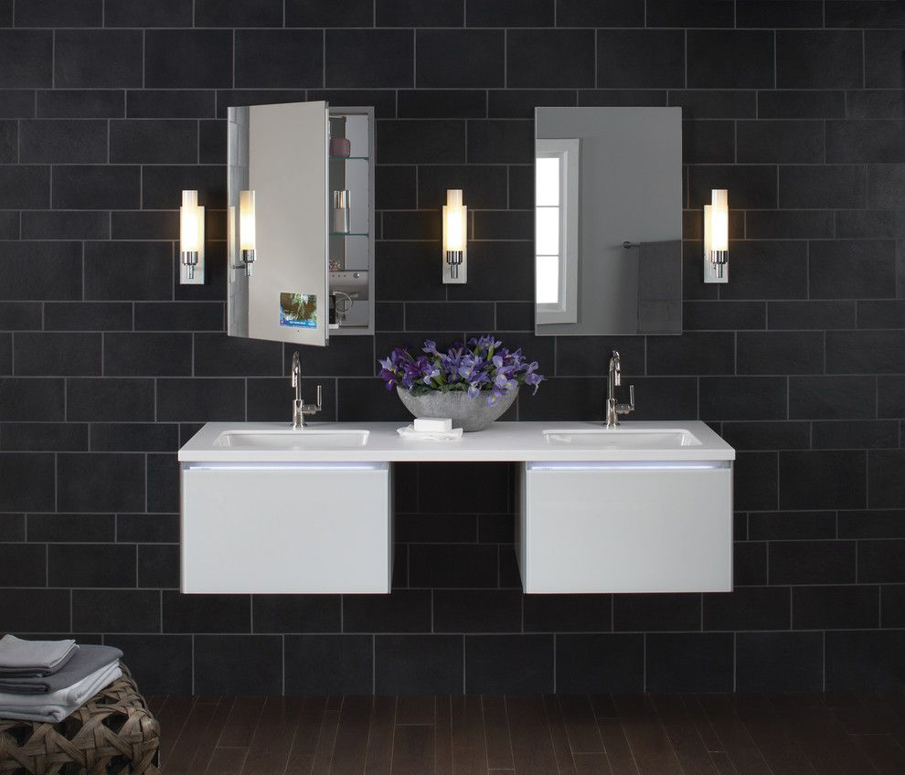 Robern bathroom vanities - Bathroom Vanity By Interior Designer Ginny Zonfrilli Bathrooms Pinterest Bathroom Vanities Manhattan And Interiors