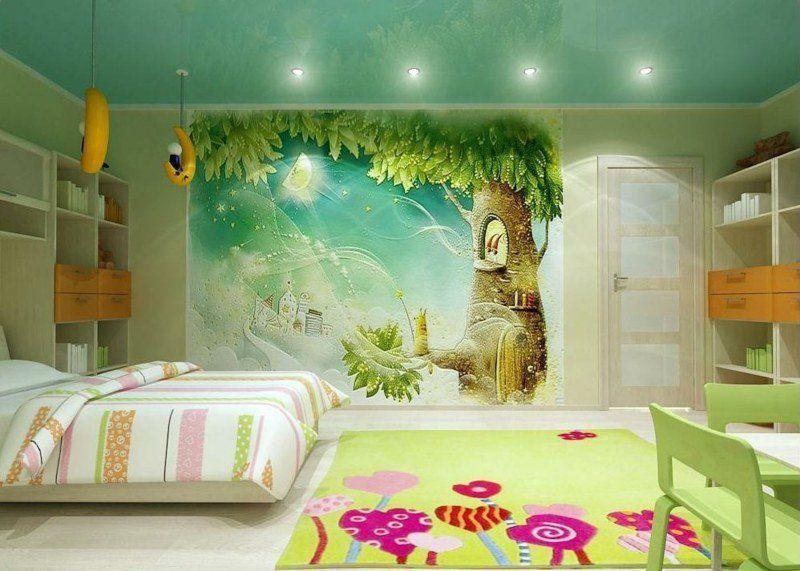 Fresque Murale Dans La Chambre D Enfant 35 Dessins Joviaux Fresque Murale Parement Mural Chambre Enfant
