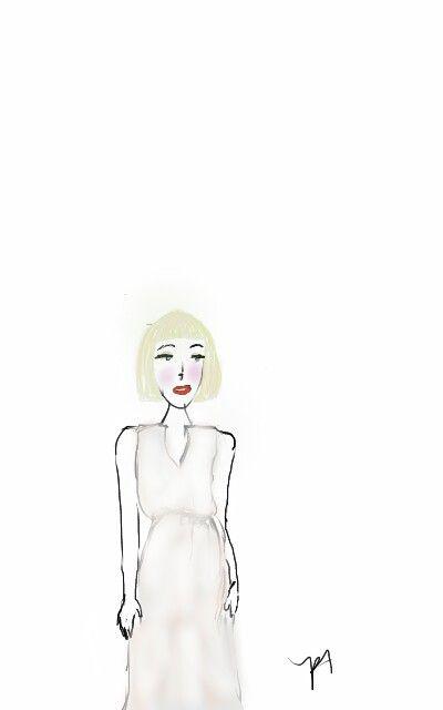 Girl sketch _ by patti lee