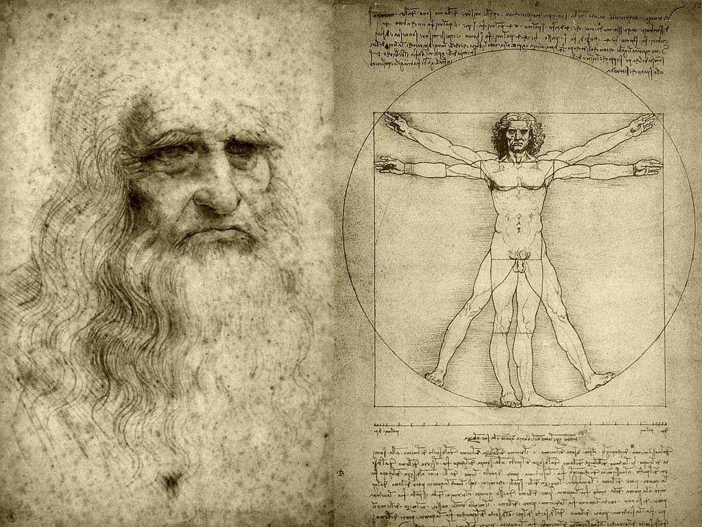 In what way should I start my history report on Leonardo Da Vinci?