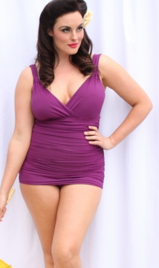f721566cc2 Farrah Swimsuit form Kiyonna is on my lust for summer list for sure. Super  cute retro styling.
