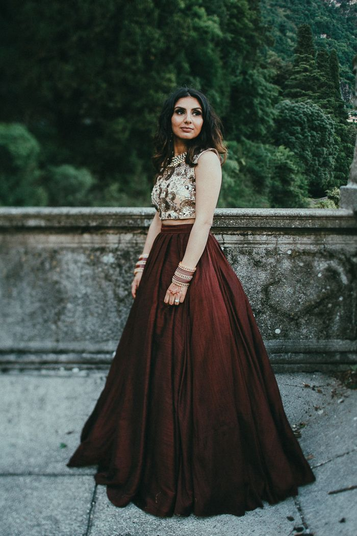 df2c7ae8a5 This Sikh wedding at Villa Pizzo features two stunning parties, airy and  modern reception décor, and gorgeous couple portraits.