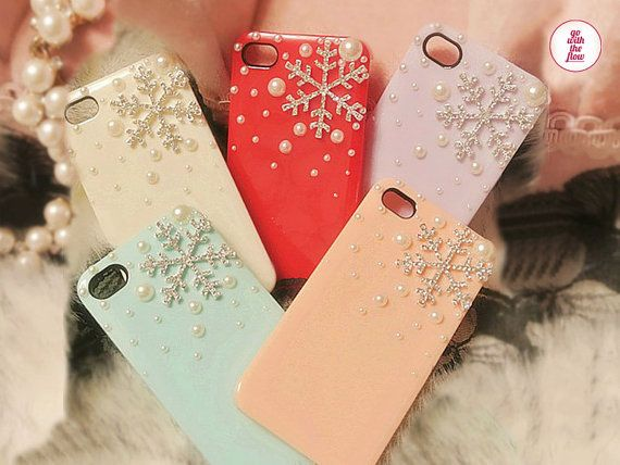 Free Phone Case & Luxury Bling Large Snowflakes Styles DIY Deco Kit Decoden Kit Cabochon Deco Kit For DIY Cell Phone iPhone 4G 4S 5 Case on Etsy, £3.14
