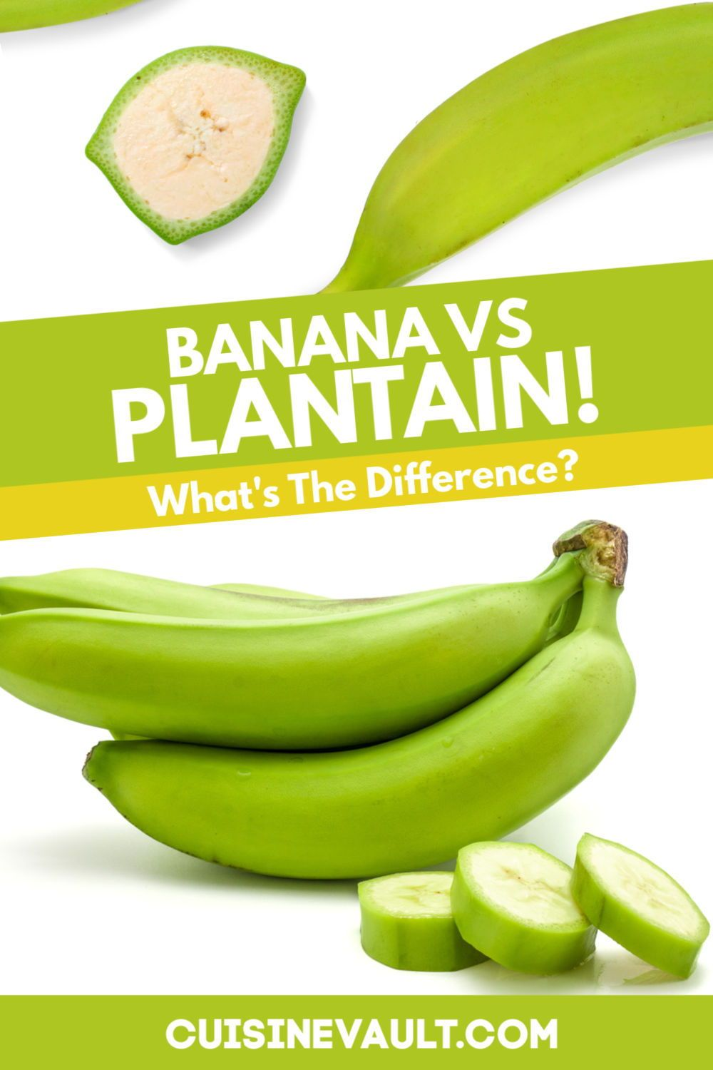 Banana Vs Plantain What Is The Difference In 2020 Plantains Cooking Bananas Banana