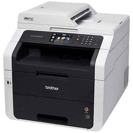 Brother Wireless Color Laser Led All In One Printer Copier Scanner Fax Mfc 9340cdw By Office Depot Officemax Printer Scanner Printer Laser Printer