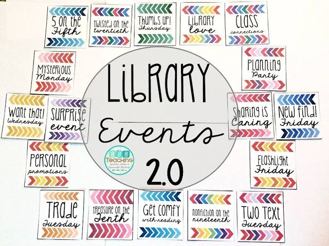 SSSTeaching: Library Events 2.0 with FREEBIE