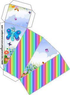 Borboletas - Kit Completo com molduras para convites, rótulos para guloseimas, lembrancinhas e imagens! - Fazendo a Nossa Festa
