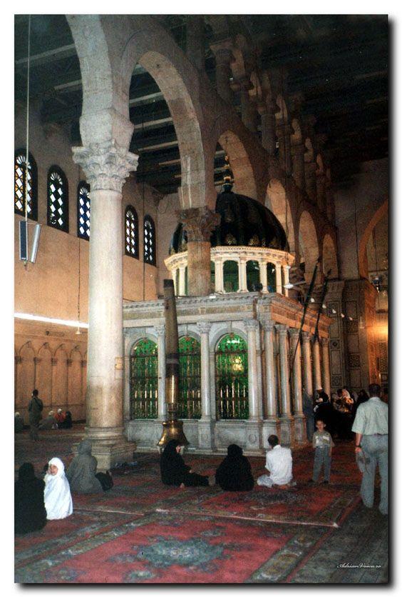 The shrine of John the Baptist, Umayyad Mosque, Damascus, Syria