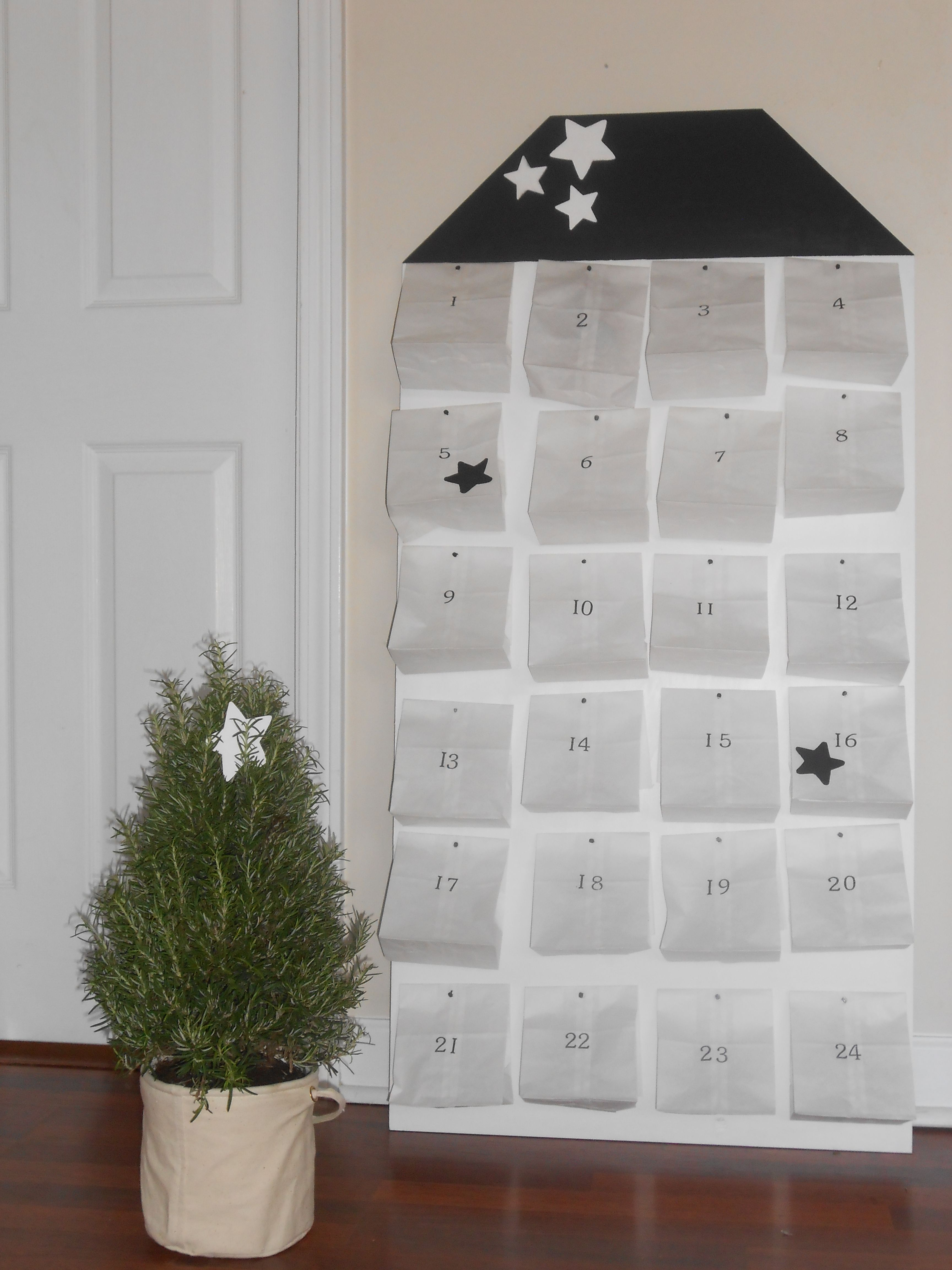 Our DIY advent calender
