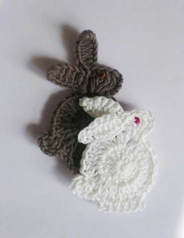 easter bunny applique Pattern | crochet | Pinterest | Croché ...