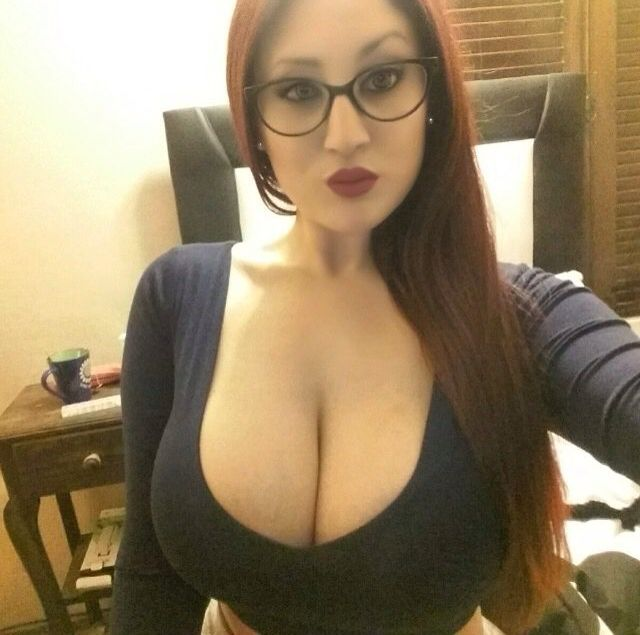 Blonde milf with glasses