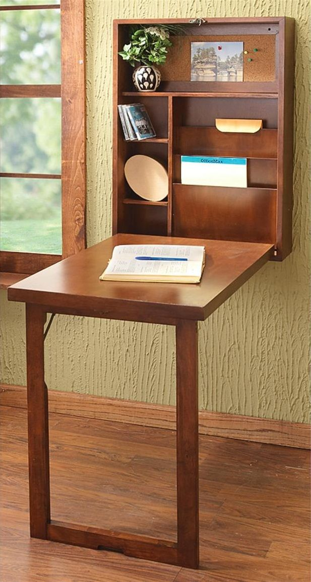 Furniture Traditional Diy Wall Mounted Folding Desk With Shelves