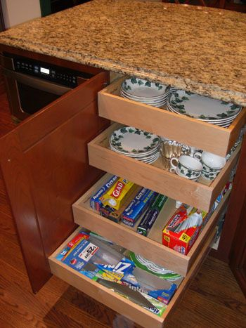 http www.askthebuilder.com how-to-garage-shelving-ideas - Pull out drawers in kitchen cabinet id have so much more