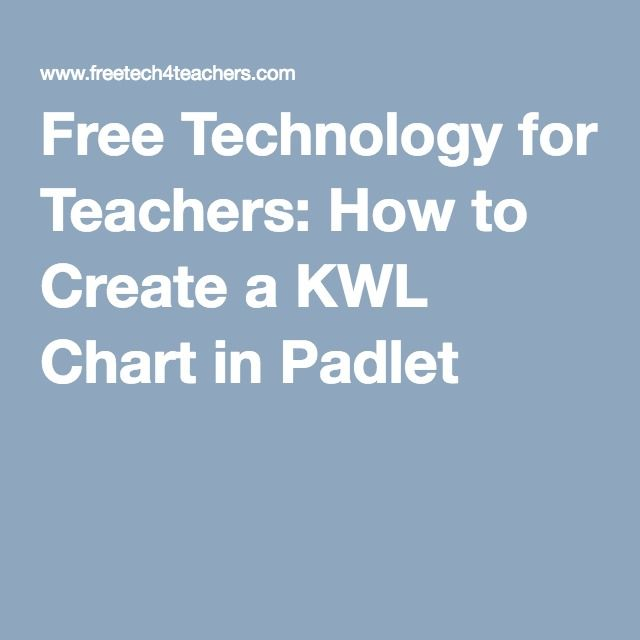 Free Technology for Teachers How to Create a KWL Chart in Padlet - kwl chart