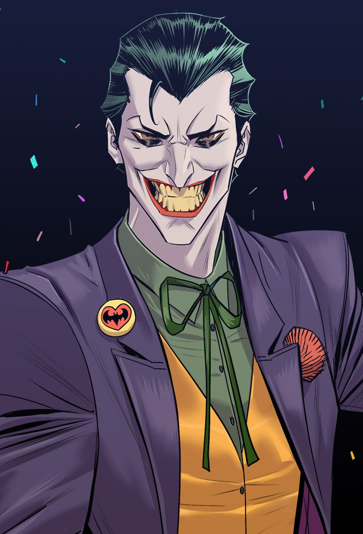 Classic joker on behance anime cartoons characters joker joker cartoon joker art - Superman et batman dessin anime ...