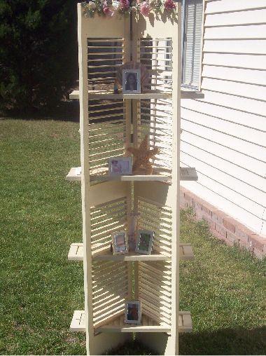 Shutter Shelfs Great Idea Bhg Com Shutters Repurposed Recycled Projects Repurposed Junk