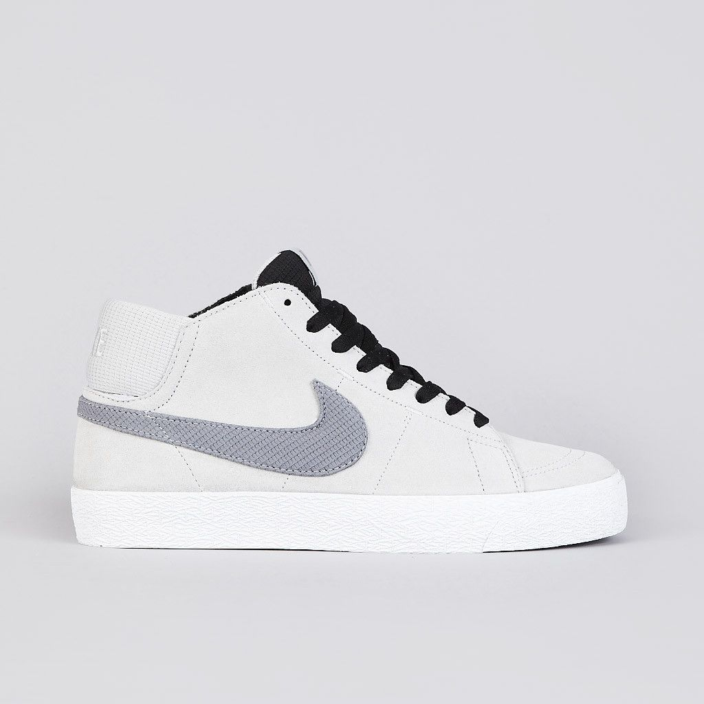 ++ Nike Sb Blazer Mid LR Strata Grey / Metallic Cool Grey