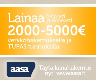 Etsitkö edullista ja nopeaa lainaa heti tilillesi internetistä? Nyt sinun ei tarvitse enää etsiä, sillä Aasa tarjoaa lainaa 2000-5000 € edullisella nimelliskorolla 6-24 kuukaudeksi. Hae heti!