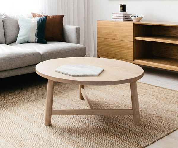 The Cleveland Coffee Tables Offer A Classic Tripod Option With A Twist