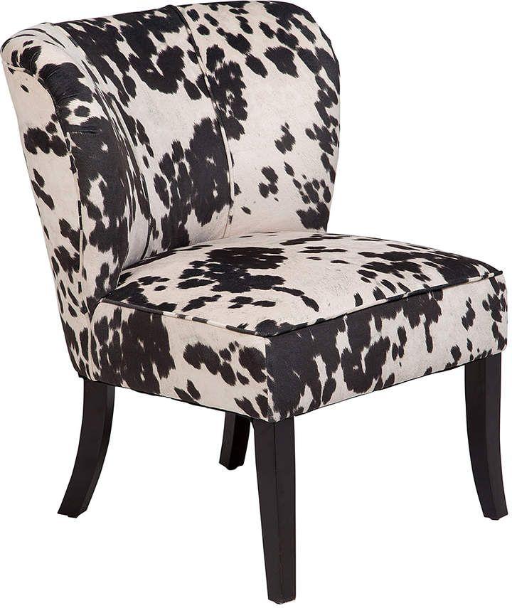 Best Black White Mimi Tulip Back Cow Print Accent Chair Faux 400 x 300