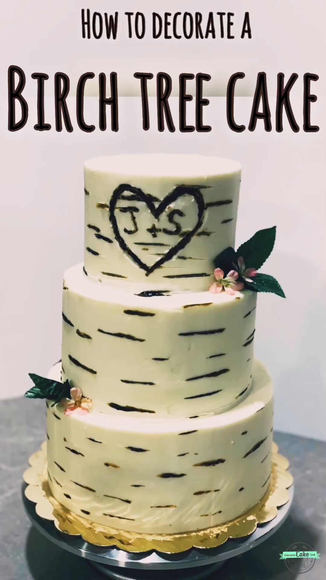 Birch Tree Wedding Cake Tutorial