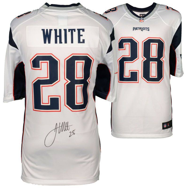 james white autographed jersey
