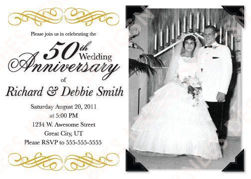 Free Printable 50th Wedding Anniversary Invitations 50th Wedding Anniversary Invitations Wedding Anniversary Invitations 50th Anniversary Invitations